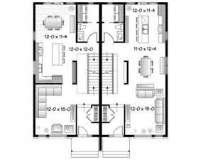 Floor Plans For Semi Detached Houses Eplans Contemporary House Plan Contemporary Semi