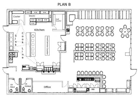 layout kantor pdf 9 restaurant floor plan exles ideas for your
