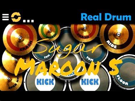 real drum tutorial sugar sugar maroon 5 real drum cover youtube
