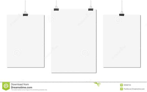 poster clips three poster stock photos image 30068753