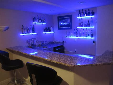 floating shelves with lights led floating shelves blog customized designs