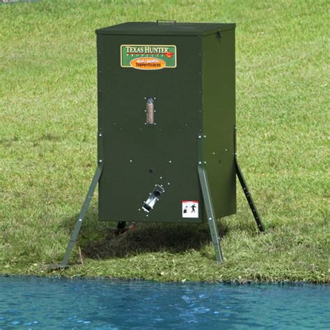 Fish Feeders For Lakes 250 lb lake pond fish feeder with adjustable legs