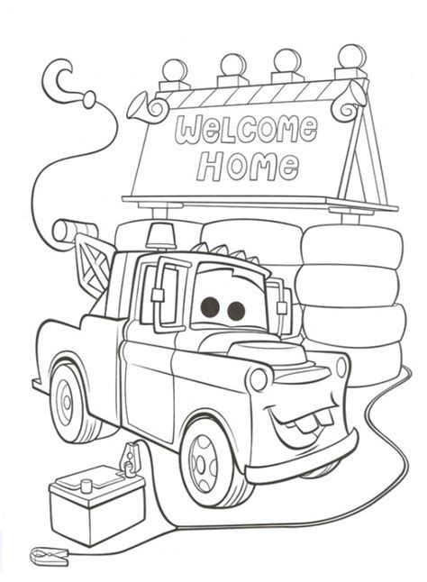 coloring pages of disney cars 2 kids n fun kleurplaat cars 2 welkom thuis