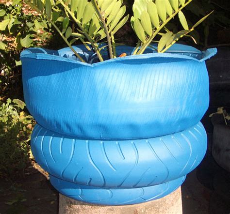 Inside Out Tire Planter by Truck Tire Planter Designboom
