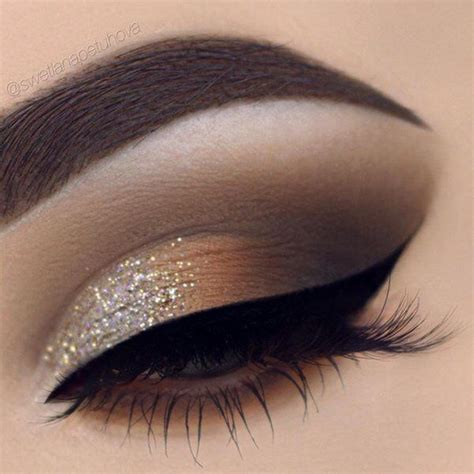 Eyeshadow Gold best 25 glitter eye makeup ideas on gold