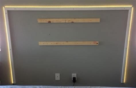 diy led headboard diy headboard with led lighting 5 removeandreplace com