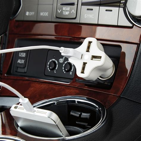 4 port usb car charger charge all the devices the