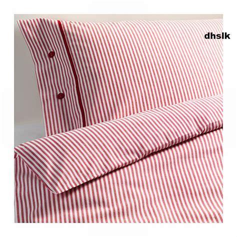 Duvet Comforter Covers Ikea Nyponros Queen Full Duvet Cover Set Ticking Stripes
