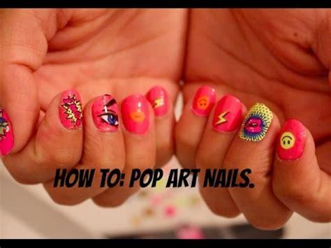 kiss nails tutorial nail tutorial pop art manicure using sally hansen and