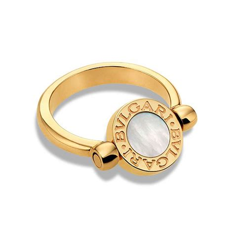 Bulgari Bvlgari Gold bulgari bvlgari bvlgari 18k yellow gold flip ring with mop