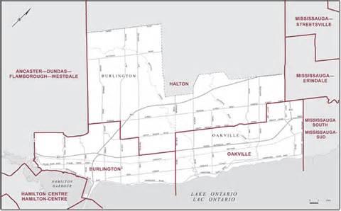 burlington and oakville maps corner elections canada