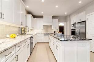White Kitchen Countertops - gray kitchen cabinets with white countertops quicua com