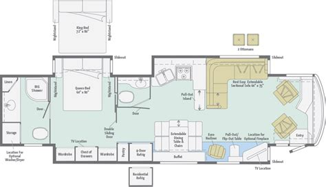 winnebago floor plans class a meridian floorplans winnebago rvs