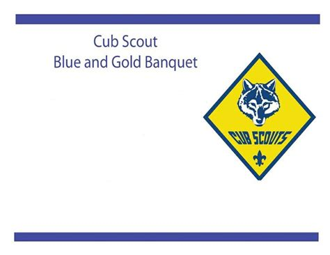 printable blue and gold flier invitation cub scouts