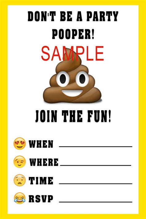 printable emoji birthday invitations emoji birthday invitation please click on image twice to