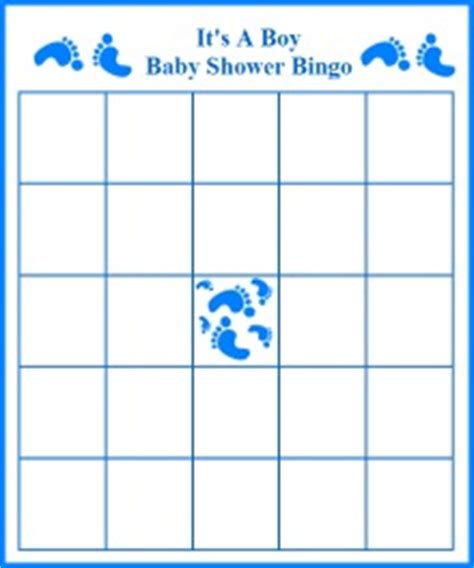 footprint boy baby shower bingo templates shower