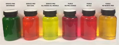 what color is dexcool service pro all makes all models antifreeze coolant color