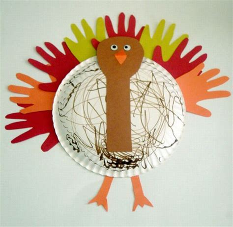 Make A Paper Turkey - seven recycled paper plate projects for green diary