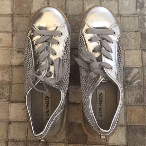 Steve Madden Shoes Size 3 by Steve Madden Shoes Metallic Silver Size 7 Poshmark
