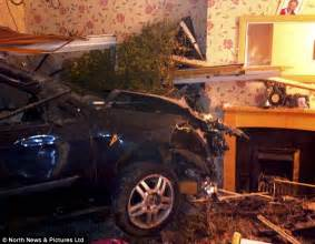 car crashes into living room nearly hits pregnant mom like something out of a hollywood film the high speed