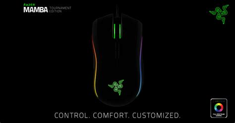 razer mamba tournament edition ergonomic gaming mouse