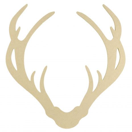 decorative reindeer antlers 15 quot decorative wooden deer antler silhouette natural