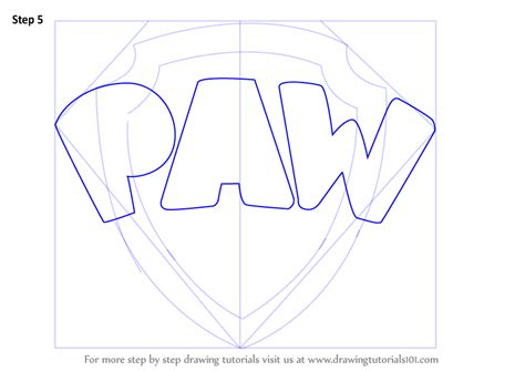 learn how to draw paw patrol badge paw patrol step by step drawing learn how to draw paw patrol badge paw patrol step by