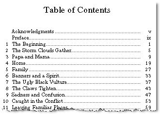 Table Of Contents Word Template Toc With Numbered Styles Formal Depiction Toctips 15 B Gopages Microsoft Word 2010 Table Of Contents Template