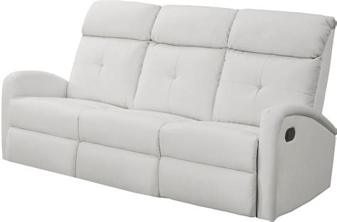 white leather reclining sectional 88wh 3 white bonded leather reclining sofa 88wh 3 monarch