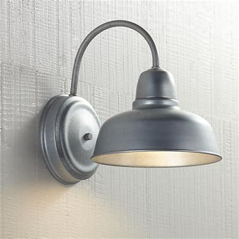 galvanized outdoor light fixtures barn 11 1 4 quot high galvanized indoor outdoor wall