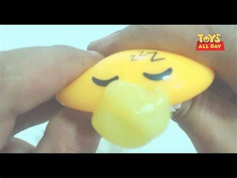 Squishy Dino Egg Slime adorable squishy squeeze vomiting slime gadetama egg unboxing