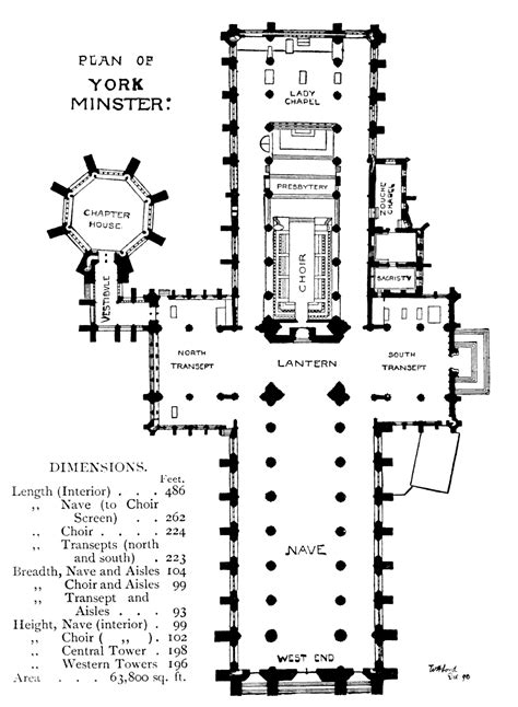 york minster floor plan bell s cathedrals york by a clutton brock