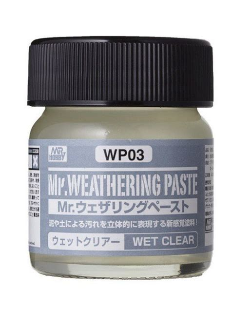 Mr Spare Bottle 80 Ml Mr Hobby mr hobby wp03 mr weathering paste clear 40ml