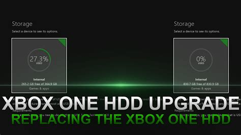 format hard disk for xbox one how to upgrade the hard drive in an xbox one youtube