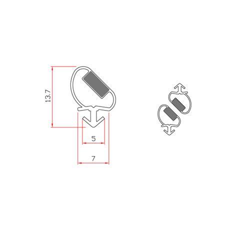 guarnizioni doccia gomma guarnizione magnetica box doccia in gomma ec mag 367