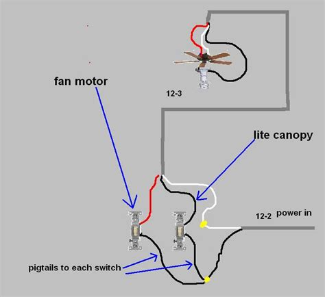 wiring a ceiling fan with 2 switches 2 white 1 black ceiling fan wiring electrical diy