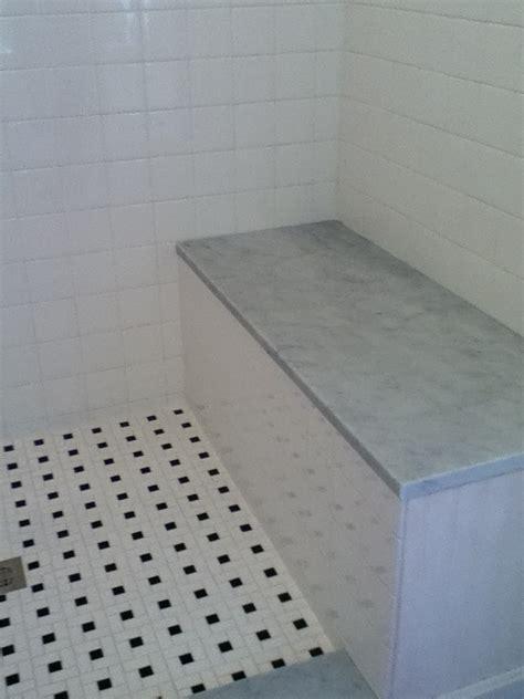 custom bathroom remodeling carrara marble stone seat
