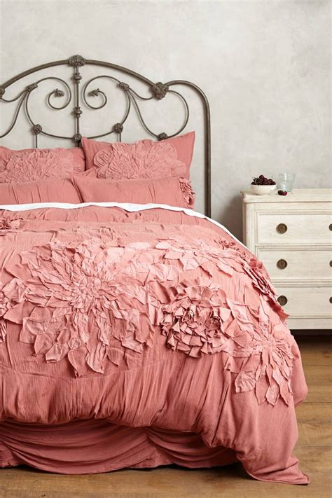 bedding anthropologie anthropologie georgina queen duvet cover 2 euro shams rose bedding new ebay
