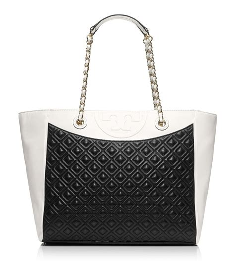 Burch Flemming Black burch fleming tote in black black new ivory lyst