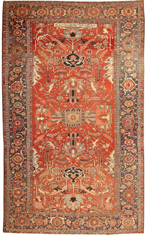 antique heriz serapi rugs 43696 for sale