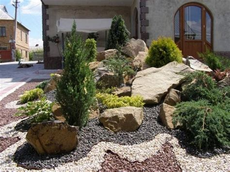 Rock Show Frontyard Landscaping Ideas Front Yard Rock Garden Ideas For Small Yards