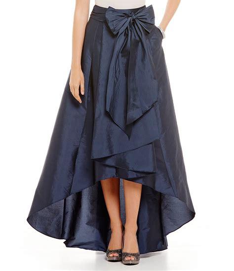 papell hi low taffeta skirt dillards