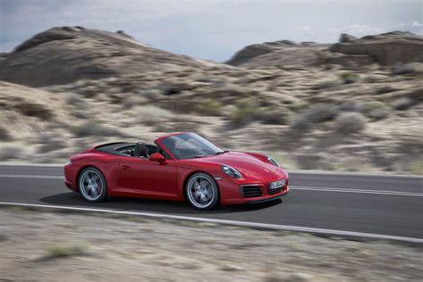 red porsche 2016 2017 porsche 911 gets turbo engine carplay styling