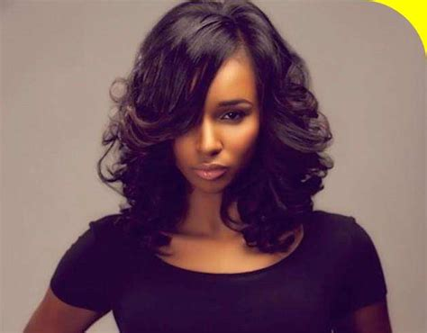 Hairstyles For Black Hair Medium Length by Medium Length Hairstyles 2015 Ideas For Black Of