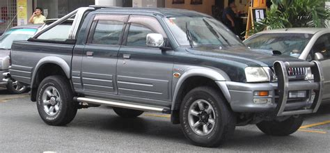 mitsubishi l200 file mitsubishi l200 third generation open bed front