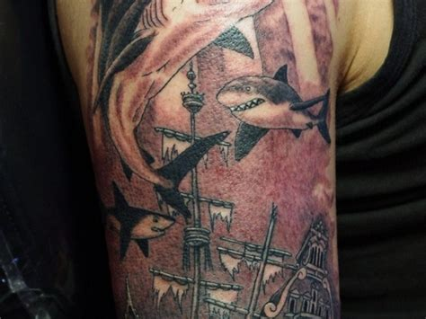 sunken ship tattoo designs sunken ship
