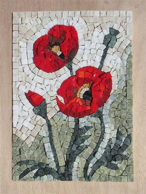 fiori mosaico fiori di co kit mosaico d arte kit mosaici myrijoy