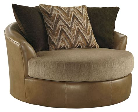 Declain Sand Oversized Swivel Accent Chair From Ashley Oversized Swivel Accent Chair