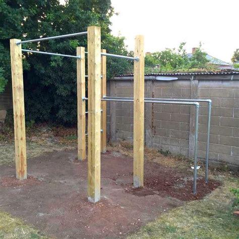diy backyard pull up bar details about garden calisthenics outdoor gym pull up