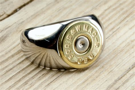 Bullet Ring / Men's Stainless Steel & Brass Bullet Ring